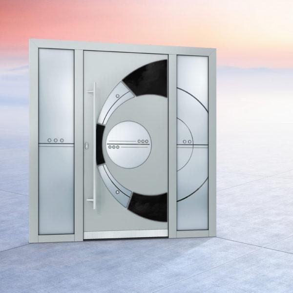 Алюминиевая дверь в Хай-Тек стиле