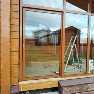 Раздвижные — откатные алюминиевые двери
