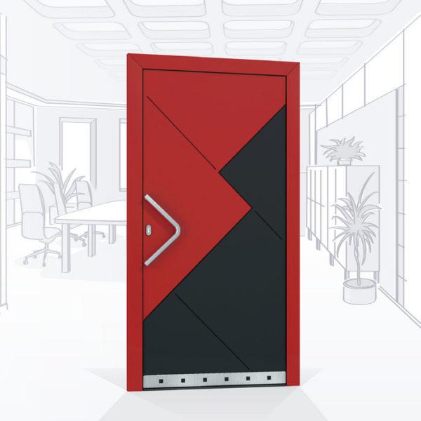 Дизайнерская алюминиевая брендовая дверь