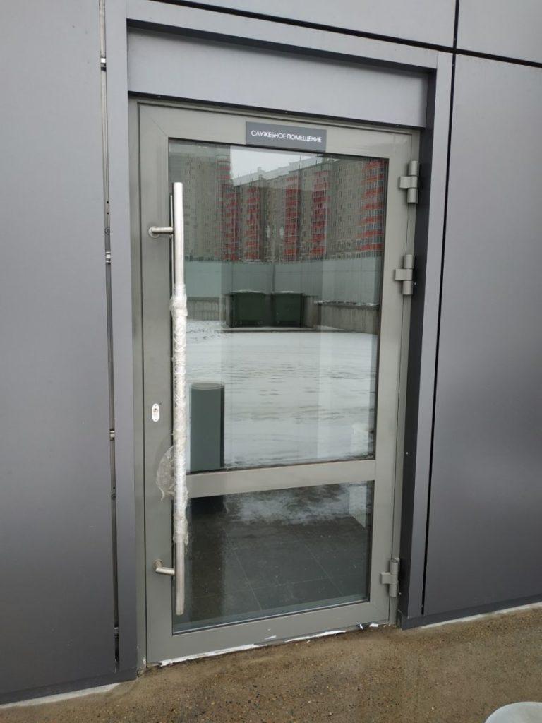 Алюминиевая теплая входная дверь