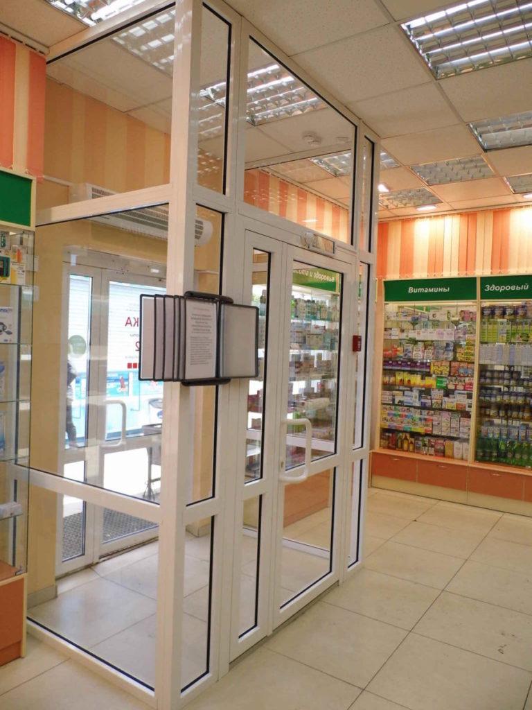 Тамбур внутренний в Аптеке Гармония здоровья