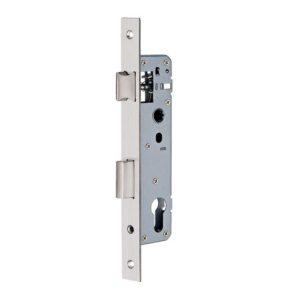 Замок дверной с защелкой для алюминиевых дверей дорнмасс 25